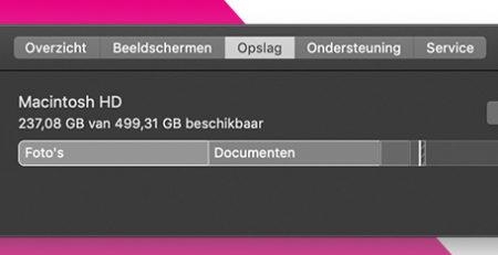 Grote bestanden opsporen en verwijderen van je Mac.